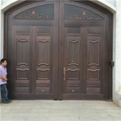 孟州市庭院铜大门(电动铜门)推荐东皇铜门