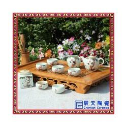 陶瓷茶具  陶瓷定制手绘茶具  青花瓷茶具