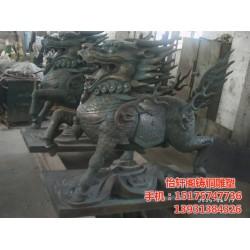 铸铜麒麟雕塑,甘肃铸铜麒麟,怡轩阁雕塑