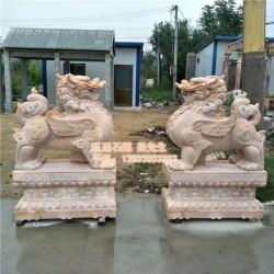 广西2米高带底座麒麟现货,旺通雕塑