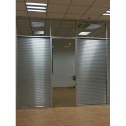 办公室玻璃隔断铝合金双层百叶窗定制钢化防火隔音高隔断