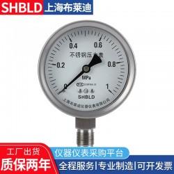 普通压力表0-1.6Mpa布莱迪压力表精密负压表