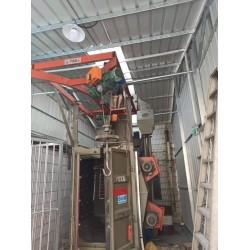 喷粉挂具角铁表面处理设备喷丸机 茂名吊钩式抛丸清理机