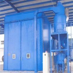 茂名自动回收式喷砂房厂家定制 管外壁除锈翻新大型设备