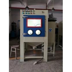 茂名打砂机厂家 锁具小零件表面喷砂电镀处理 滚筒自动喷砂机