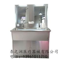 医用304不锈钢洗手池刷手池脚踏膝触感应龙头清洁水槽