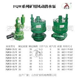 矿用FQW25-50/W风动潜水泵节能高效排水泵