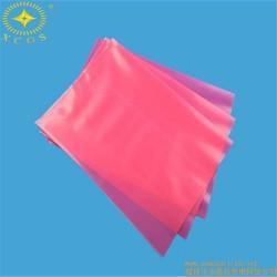 上海厂家定制平口透明PE袋红色自封PE袋