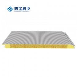金属防火岩棉复合板 彩钢复合板金属绝热夹芯板岩棉