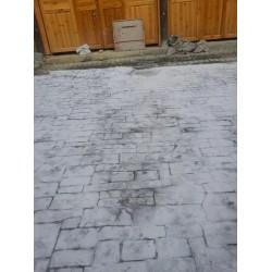 安庆广场铺装压花地坪材料