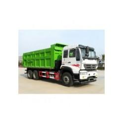 重汽斯太尔LNG压缩式对接垃圾车城市渣土建筑垃圾车